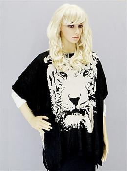Tiger Print Poncho