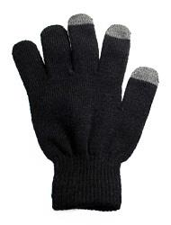 G212BK- Touch Screen Texting Gloves for Smartphones, Black