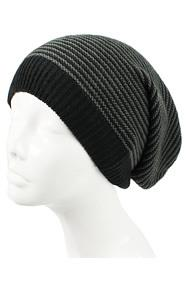 H3182- Mid-Weight Striped Slouchy Beanie Hat