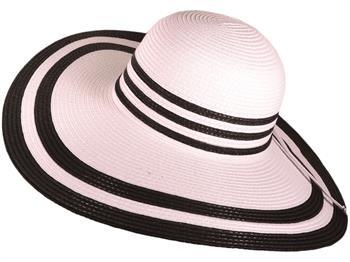Two-Tone Wide Brim Straw Sun Hats
