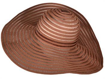 Ladies Spiral Pattern Wide Brim Straw Sun Hat