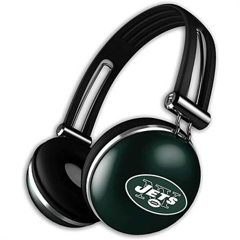iHip NFL Rugged Headphones with Built-in Mic, New York Jet