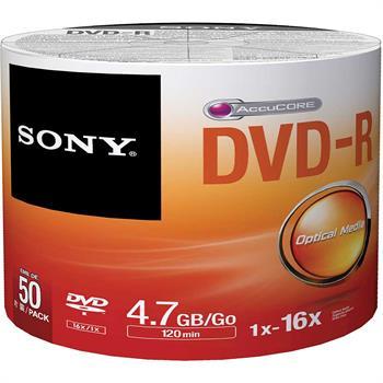 Sony DVD-R Discs, 50-Pack