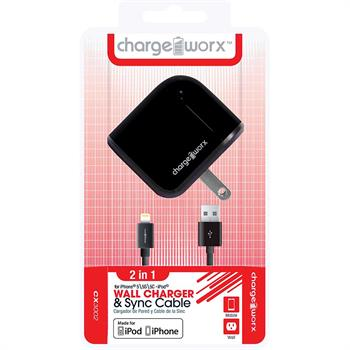 Chargeworx USB Wall Charger & Sync Cable for iPhone