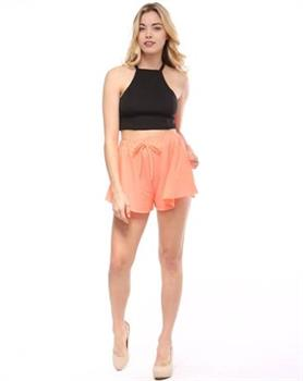 JUNIOR - ORANGE - DRESS SHORTS