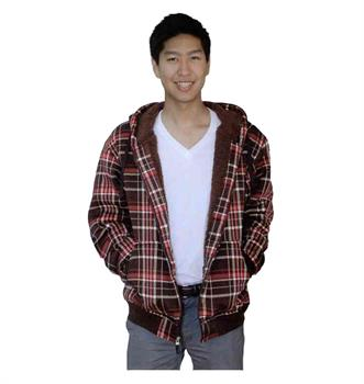 MENS - PLAID FLEECE HOODIE