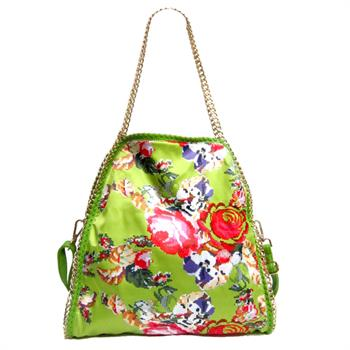 G&R Floral Chain Bag Green