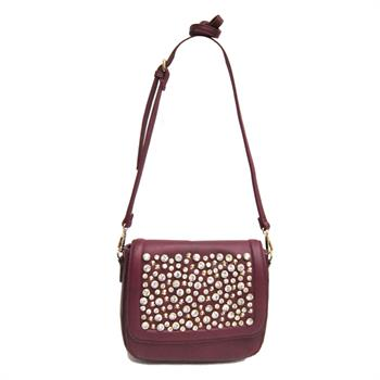 LYDC Handbags - G&R Flap-Front Hobo Bag Burgundy