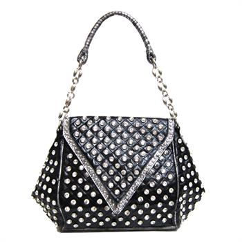G&R Bling Flap Chain Bag Black