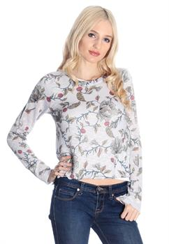 Stone Flower Printed Blouse