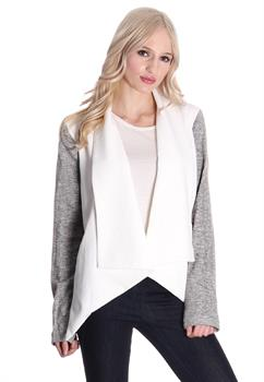 White & Grey Thick Cardigan