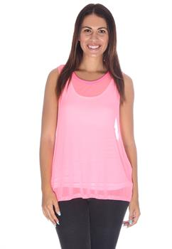 Pink Light Weight Mesh Top