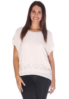 Cream Crochet Inset Blouse