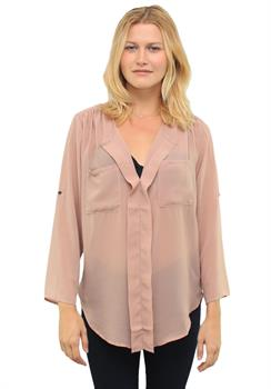 Good Stuff Apparel - Blush Double Pocket Long Sleeve