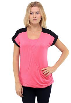 Pink Criss Cross Blouse