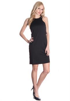 Black Zip Back Dress