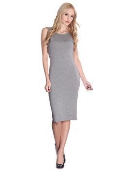 Charcoal Open Back Dress