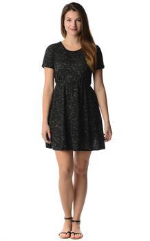 Black Space Dye Dress