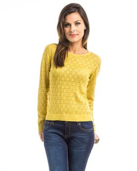 Mustard Knit Pullover Sweater