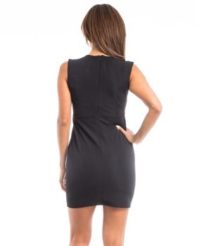 Apparel Showroom - Black Lace Accent Shift Dress