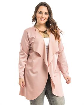 Rose Draped Plus Size Cardigan