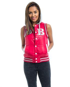 Red Hooded Puffer Vest