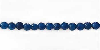 """Dyed jade """"blue agate"""" round faceted 4mm"""