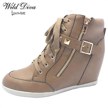 Wild Diva Lounge BUBBLE-55 CASUAL WEDGE SNEAKERS