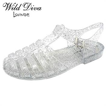 Wild Diva Lounge GIA-01 FLAT JELLY SANDALS