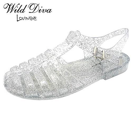 Legend Footwear Inc - Wild Diva Lounge GIA-01 FLAT JELLY SANDALS