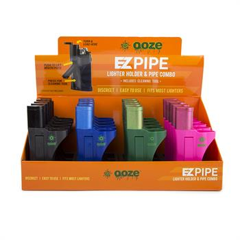 EZ Pipe Lighter Holder & Pipe Combo 20 CT Display